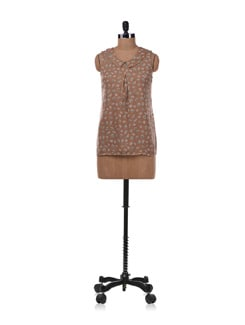 Brown Printed Top - Allen Solly