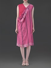 Pink Sleeveless Cotton Dress - By