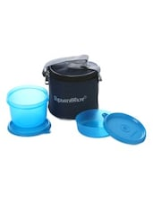 Blue Plastic Small Lunch Box With Bag - By