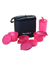 Pink Plastic Combo Executive Lunch With Bag - By