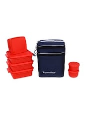 Red Plastic Family Pack Lunch With Bag - By
