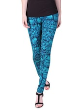 Turquoise Tribal Print Leggings - By