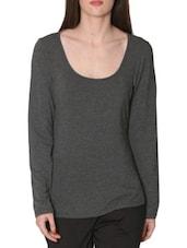 Solid Dark Grey T-Shirt - By