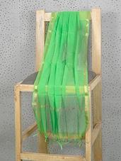 Parrot Green Art Silk Dupatta With Zari Border - Prabha Creations