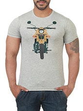 grey cotton tshirt -  online shopping for T-Shirts