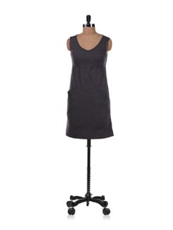 Black Dress With Pockets - Allen Solly