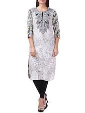 Grey Rayon Straight Kurta - By