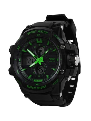SKMEI Sports Series Dual Time with Calender Digital with Analog wrist watch - Green Dial - Men's Watch -  online shopping for Digital watches