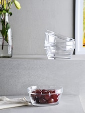 Elegant Glass Bowl Set Of 4 - By - 1224841