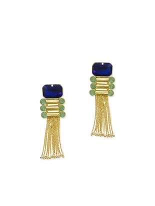 multi colored brass earring -  online shopping for earrings