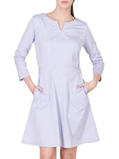 light purple rayon a-line dress -  online shopping for Dresses