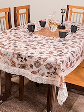 Azalea Gripper 6 Seater PVC Anti Slip Table Cover , Multicolor ,Pack Of 1 - By