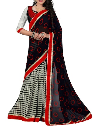 black georgette half and saree
