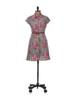 Multicolored Floral Dress - Allen Solly