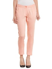 pink cotton chinos -  online shopping for Trousers