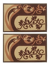 BIANCA Set Of 2 Door Mat With HD Rubber Backing - By