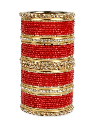 Red metal wedding bangle (set of 46)