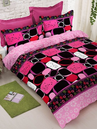 multicolored printed cotton bed sheet set -  online shopping for bed sheet sets