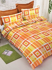 multicolored check print cotton bed sheet set -  online shopping for bed sheet sets