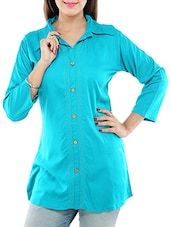 green rayon regular top -  online shopping for Tops