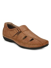 tan synthetic slip on mojaris -  online shopping for Mojaris