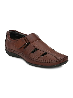 brown synthetic slip on mojaris -  online shopping for Mojaris