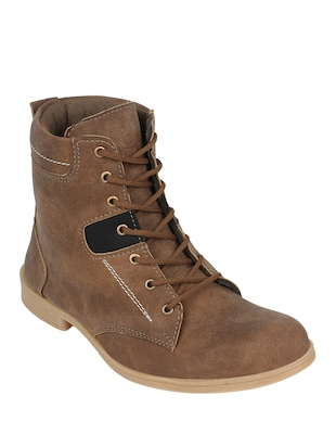 brown leatherette High ankle boot