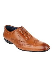 tan synthetic brouges -  online shopping for Brouges
