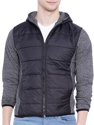black cotton casual jacket