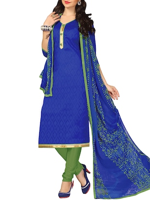 blue georgette churidaar suits unstitched suit