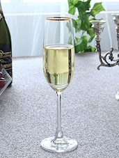 Gold Rimmed Glass Champagne Flutes (Set Of 6) - By