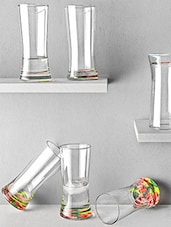 Floral Base Tapered Hi-Ball Glasses (Set Of 6) - By