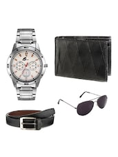 Arum Special Combo of BrownWatch,Wallet &Sunglass With Belt Combo -  online shopping for Chronograph Watches