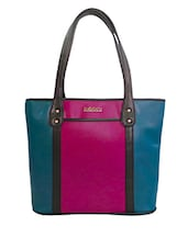 Multicolor Leatherette Shoulder Bag - By