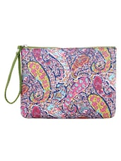Paisley Printed Multi Color Wristlet - By