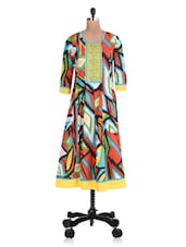 Multicolored Cotton Printed Kurta - By