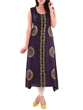 blue rayon straight kurti -  online shopping for kurtis