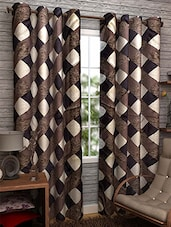 Brown Nylon Set Of 3 Door Curtain - By