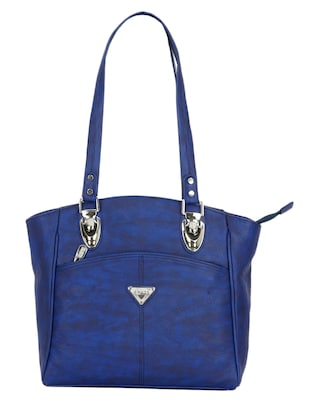 blue synthetic leather handbag -  online shopping for handbags