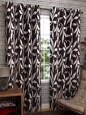 Brown Nylon Set Of 3 Door Curtain - By