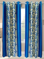 Blue Nylon Set Of 2 Door Curtain - By