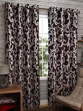 Brown Nylon Set Of 2 Door Curtain - By