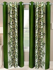 Green Nylon Set Of 2 Door Curtain - By