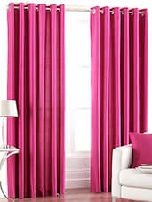 Pink Nylon Set Of 2 Door Curtain - By - 1229401