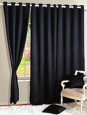 Black Nylon Set Of 3 Door Curtain - By