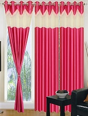 Pink Nylon Set Of 3 Door Curtain - By