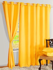 Yellow Nylon Set Of 2 Door Curtain - By
