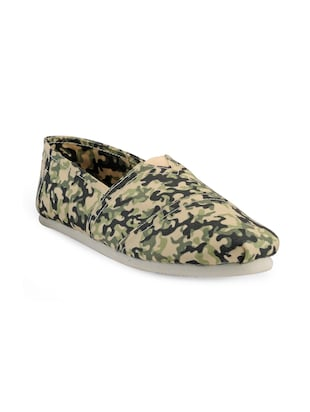 multi colored Canvas casual slipon