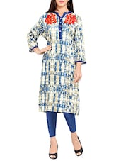Blue Rayon Straight Kurta - By