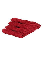 Red Plain Cotton Bath Towel - By